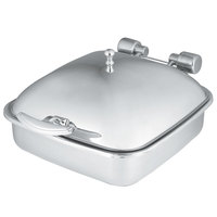 Vollrath 46132 6 qt. Intrigue Square Induction Chafer with Stainless Steel Food Pan