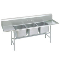 Advance Tabco 94-83-60-36RL Spec Line Three Compartment Pot Sink with Two Drainboards - 139 inch