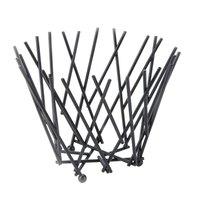 American Metalcraft FRUB6 Round Black Thatch Basket - 7 inch x 5 inch