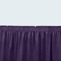 National Public Seating SS16-36 Navy Shirred Stage Skirt for 16 inch Stage - 15 inch x 36 inch