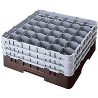 Cambro 36S738167 Brown Camrack 36 Compartment 7 3/4 inch Glass Rack