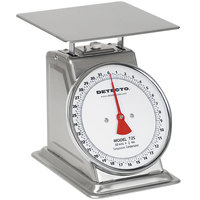 Cardinal Detecto T-2-S 32 Oz. Top Loading Fixed Dial Scale - Stainless Steel