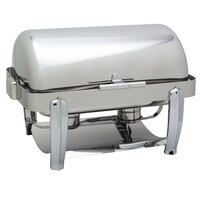 Carlisle 609721 8 qt. Aspen Rectangle Roll Top Stainless Steel Chafer