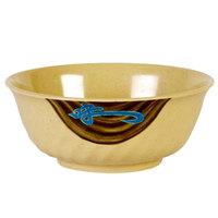 Wei 21 oz. Round Melamine Swirl Bowl - 12/Case