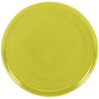 Homer Laughlin 575332 Fiesta Lemongrass 12 inch China Pizza / Baking Tray - 4 / Case