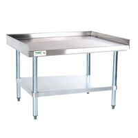 Regency 16 Gauge 30 inch x 30 inch Stainless Steel Equipment Stand with Galvanized Undershelf