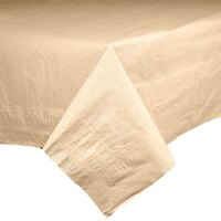 Hoffmaster 2206 54 inch x 108 inch Cellutex Beige Tissue / Poly Paper Table Cover - 25 / Case