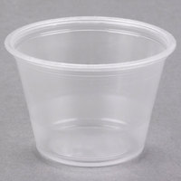 Dart Solo Conex Complements 250PC 2.5 oz. Translucent Plastic Souffle / Portion Cup   - 125/Pack