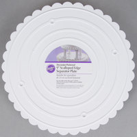 Wilton 302-9 Decorator Preferred Round Scalloped Edge Cake Separator Plate - 9 inch