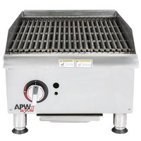 APW Wyott GCRB-24i Champion CharRock Lava Rock 24 inch Charbroiler with Safety Pilot - 80,000 BTU