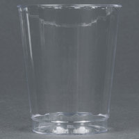 WNA Comet CC8240 Classicware 8 oz. Tall Clear Plastic Fluted Tumbler - 20 / Pack