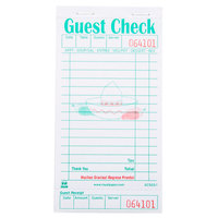 Royal Paper GC503-1 Mexican Themed 1 Part White Guest Check with Beverage Lines and Bottom Guest Receipt - 50/Case