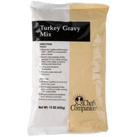 Chef's Companion 15 oz. Turkey Gravy Mix   - 8/Case