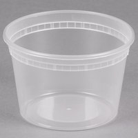 16 oz. Microwavable Translucent Plastic Deli Container - 480 / Case