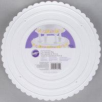 Wilton 302-12 Decorator Preferred Round Scalloped Edge Cake Separator Plate - 12 inch