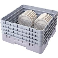 Cambro CRP2046151 Soft Gray Full Size PlateSafe Camrack 4-6 inch