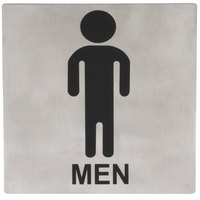 Tablecraft B10 5 inch x 5 inch Stainless Steel Men Sign