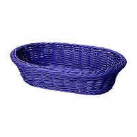 GET WB-1505-BL 11 3/4 inch x 8 inch x 3 inch Designer Polyweave Blue Oval Basket - 12 / Case