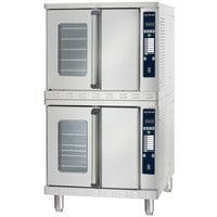 Alto-Shaam 2-ASC-4G / STK / E Platinum Series Liquid Propane Stacked Full Size Convection Ovens with Electronic Controls - 100,000 BTU
