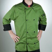 Chef Revival J134MT-S Cool Crew Fresh Size 36 (S) Mint Green Customizable Chef Jacket with 3/4 Sleeves - Poly-Cotton