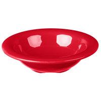 Carlisle 3304205 Sierrus 4.5 oz. 4 3/4 inch Red Rimmed Melamine Fruit Bowl - 48/Case
