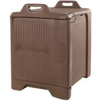 Carlisle XT3000R01 Cateraide Slide 'N Seal 25 inch x 19 inch x 27 inch Brown Insulated Food Pan Carrier with Sliding Lid
