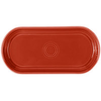 Homer Laughlin 412326 Fiesta Scarlet 12 inch x 5 11/16 inch Bread Tray - 6/Case