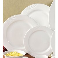 CAC RSV-21 Roosevelt 12 inch Super White Porcelain Plate - 12/Case