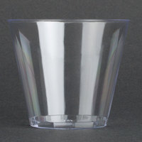 Fineline Savvi Serve 405 5 oz. Squat Clear Hard Plastic Tumbler - 20/Pack