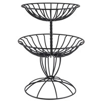 American Metalcraft TTDB2 Wrought-Iron, Two-Tier Basket - 12 3/4 inch x 15 inch x 20 inch
