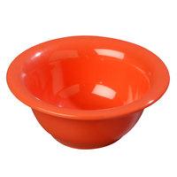 Carlisle 4303852 Durus 10 oz. Rimmed Sunset Orange Melamine Nappie Bowl - 24/Case