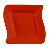 CAC SOH-6R Color Soho 6 3/4 inch Red Square Stoneware Plate - 36/Case