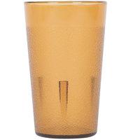 5 oz. Amber Pebbled Plastic Tumbler - 12/Pack