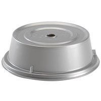Cambro 900CW486 Camwear Camcover 9 1/8 inch Silver Metallic Plate Cover   - 12/Case