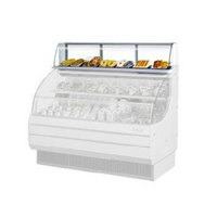 Turbo Air TOMD-75-L 75 inch Top Dry Display Case for Turbo Air TOM-75L Low Profile Open Display Case - White