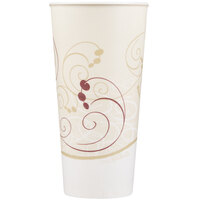 Dart Solo RS22N-J8000 Symphony 22 oz. Wax Treated Paper Cold Cup - 50 / Pack