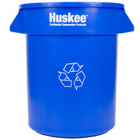 Continental 2000-1 Huskee 20 Gallon Blue Recycle Trash Can