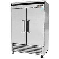 Turbo Air TSF-49SD 54 inch Super Deluxe Two Section Solid Door Reach in Freezer - 49 cu. ft.