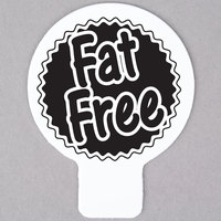 Deli Tag Topper - FAT FREE - Black