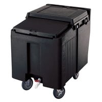 Cambro ICS125L110 Black Sliding Lid Portable Ice Bin - 125 lb. Capacity