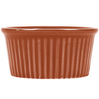 CAC RKF-6BROW Festiware 6 oz. China Fluted Ramekin Brown 36/Case