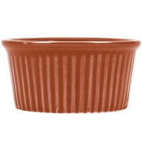 CAC RKF-6BROW Festiware 6 oz. Brown China Fluted Ramekin - 36/Case