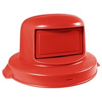 Continental 5550RD Huskee 55 Gallon Red Dome Top Trash Can Lid