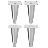 Metro C5-SSLEGS 6 inch Stainless Steel Legs for 9, 8, 6, 3, P, and 1 Series Holding Cabinets - 4 / Set