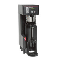 Bunn 34800.0001 Black BrewWISE Single ThermoFresh DBC Brewer with Funnel Lock - 120/240V, 4000W