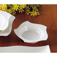 CAC STA-110 Fashionware 26 oz. Bone White Five Star Porcelain Pasta Bowl - 12/Case
