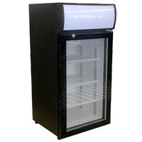 Beverage-Air CTR3-1-B Black Countertop Display Refrigerator with Swing Door - 3 cu. ft.