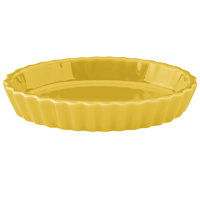 Hall China 30853320 Sunflower 6.5 oz. Colorations Oval Fluted Souffle / Creme Brulee Dish - 24/Case