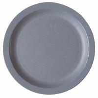 Cambro 65CWNR401 Slate Blue Camwear 6 1/2 inch Narrow Rim Plate - Polycarbonate 48/Case