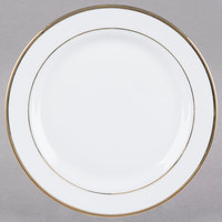 CAC GRY-6 Golden Royal 6 inch Bright White Round Porcelain Plate - 36/Case